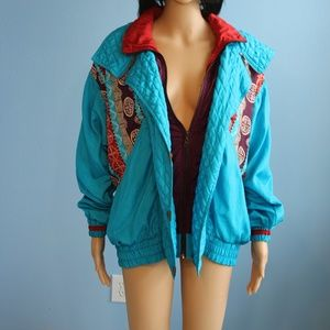 Lavon Blue Multi-Color Sweatsuit Jacket